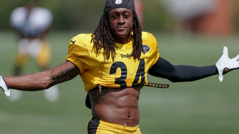<p>               FILE - In this July 28, 2019, file photo, Pittsburgh Steelers strong safety Terrell Edmunds (34) posing for a photo with his jersey rolled up during an NFL football training camp practice in Latrobe, Pa. Edmunds is proud of his 2.1 percent body fat. Though, if he's being honest, he's hoping that number ticks up a bit in his second season, because it means the defense won't be on the field quite as much this fall. (AP Photo/Keith Srakocic, File)             </p>