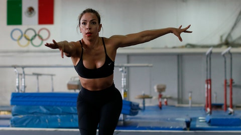 <p>               In this June 8, 2019 photo, Xyomara Valdivia, who will compete for Mexico in the women's fitness bodybuilding competition at the upcoming Pan Am Games, practices moves from her routine during a training visit to the Mexican Olympic Committee facilities in Mexico City. Valdivia and Carlos Suarez, who will compete in the men's classic bodybuilding category, will become the first Mexicans to represent their country in bodybuilding at the Pan Am Games, with this year marking the first time the discipline has been included as an official sport.(AP Photo/Rebecca Blackwell)             </p>