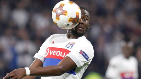 <p>               FILE - In this Thursday, Nov. 2, 2017 file photo, Lyon's Tanguy Ndombele heads the ball during the Europa League Group E soccer match between Lyon and Everton at the Lyon stadium in Decines, near Lyon, France. Tottenham Hotspur signed midfielder Tanguy Ndombele for a club-record 60 million euros ($68 million) as the English club ended 18 months of transfer inactivity on Tuesday July 2, 2019. (AP Photo/Laurent Cipriani, File)             </p>