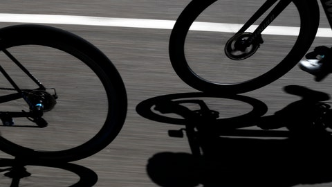 <p>               Riders cast their shadows during the fifth stage of the Tour de France cycling race over 175.5 kilometers (109 miles) with start in Saint-Die-Des-Vosges and finish in Colmar, Wednesday, July 10, 2019. (AP Photo/Thibault Camus)             </p>
