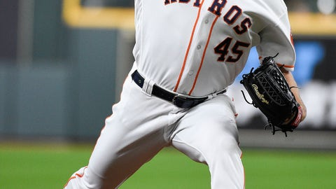 <p>               Houston Astros starting pitcher Gerrit Cole delivers during the first inning of a baseball game against the Oakland Athletics, Monday, July 22, 2019, in Houston. (AP Photo/Eric Christian Smith)             </p>