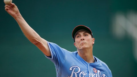 <p>               Kansas City Royals starting pitcher Homer Bailey throws during the first inning of a baseball game against the Cleveland Indians Thursday, July 4, 2019, in Kansas City, Mo. (AP Photo/Charlie Riedel)             </p>