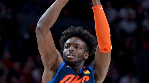<p>               FILE - In this April 23, 2019, file photo, Oklahoma City Thunder forward Jerami Grant shoots against the Portland Trail Blazers during the first half of Game 5 of an NBA basketball first-round playoff series, in Portland, Ore. Two people familiar with the situation say the Oklahoma City Thunder have traded forward Jerami Grant to the Denver Nuggets for a 2020 first-round draft pick. The people spoke to The Associated Press on condition of anonymity Monday, July 8, 2019, because the trade hasn't been approved by league officials.(AP Photo/Craig Mitchelldyer, File)             </p>
