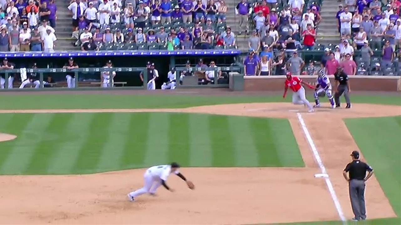 Nolan Arenado snags line drive to save a run
