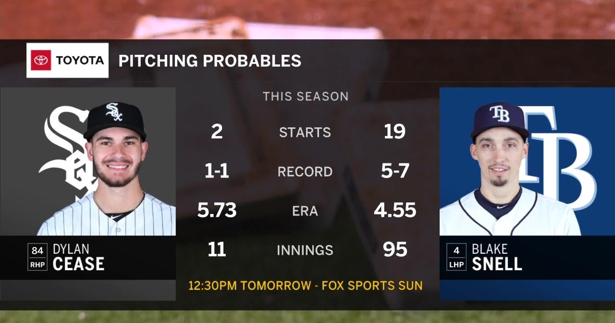 Rays turn to Blake Snell, try to avoid being swept by White Sox