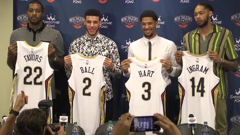 Ball, Ingram, Hart and Favors Introduced As New Orleans Pelicans