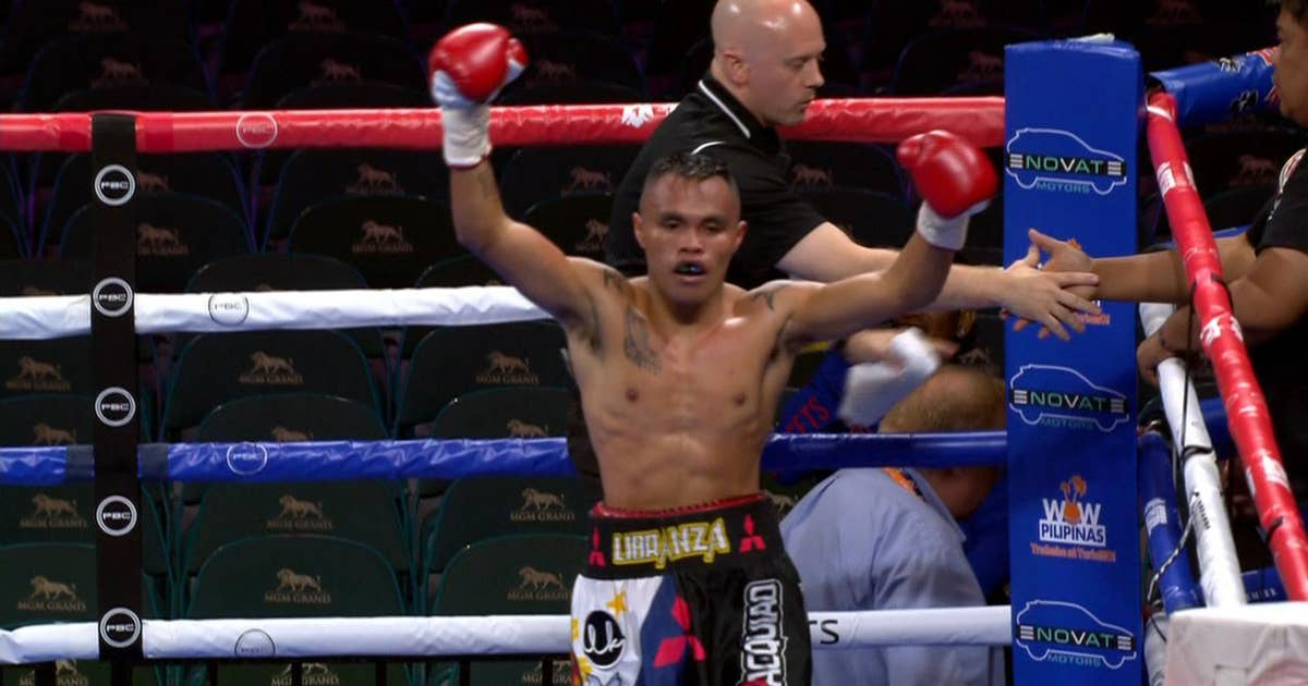Libranza earns TKO win over Maldonado with flurry of punches in 4th round