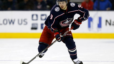 <p>               FILE - In this Dec. 11, 2018, file photo, Columbus Blue Jackets forward Artemi Panarin carries the puck against the Vancouver Canucks during an NHL hockey game, in Columbus, Ohio. The New York Rangers' rebuild just took a giant leap forward. Winger Artemi Panarin, the top free agent available this offseason, signed a seven-year, $81.5 million deal to join the Rangers, a person with knowledge of the signing told The Associated Press on condition of anonymity because the team didn't announce terms of the deal Monday, July 1, 2019.(AP Photo/Paul Vernon, File)             </p>