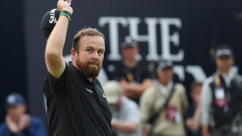 <p>               Ireland's Shane Lowry reacts to the crowd on the 18th green during the third round of the British Open Golf Championships at Royal Portrush in Northern Ireland, Saturday, July 20, 2019.(AP Photo/Jon Super)             </p>