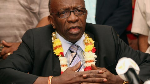 <p>               FILE - In this June 2, 2011, file photo, suspended FIFA executive Jack Warner gestures during a news conference at the airport in Port-of-Spain, Trinidad and Tobago. The former Caribbean soccer official has been ordered to pay a $79 million penalty stemming from the FIFA bribery scandal. A federal judge in New York City imposed the judgment against Warner in a lawsuit brought by the Confederation of North, Central American and Caribbean Association Football. (AP Photo/Shirley Bahadur, File)             </p>