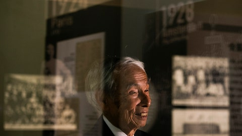 "<p>               In this July 8, 2019, photo, Kazuo Oda, a son of Mikio Oda, who won Japan's first Olympic gold medal and Asia's first individual gold medal at the 1928 Amsterdam Olympics, smiles during an interview with The Associated Press at Edo-Tokyo Museum in Tokyo. ""My father was from Hiroshima, so there was a celebration in his hometown upon his return,"" Kazuo Oda said. ""But as there were no media possibilities like today, his achievements were not known by everybody in Japan."" (AP Photo/Jae C. Hong)             </p>"