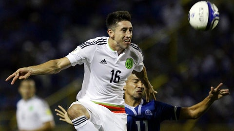 <p>               FILE - In this Friday, Sept. 2, 2016 file photo, Mexico's Hector Herrera, left, fights for the ball with El Salvador's Nelson Bonilla during a 2018 World Cup qualifier soccer match in San Salvador, El Salvador. Atletico Madrid says it has reached a deal to sign Mexico midfielder Héctor Herrera and the 29-year-old player will sign a three-year contract on Thursday July 4, 2019. (AP Photo/Salvador Melendez, File)             </p>