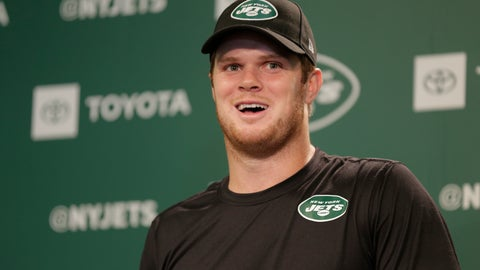 <p>               In this May 23, 2019 file photo New York Jets quarterback Sam Darnold speaks to reporters after the NFL football team's practice in Florham Park, N.J. The New York Jets have put last year's disappointing 4-12 record far behind them and a new-look roster has them feeling positive about this upcoming season. Darnold said, Wednesday, July 24, 2019, there's a sense that the whole franchise has experienced a rebirth because of the good vibes around the building. (AP Photo/Seth Wenig, file)             </p>