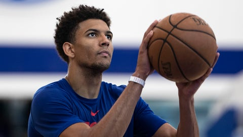 <p>               Philadelphia 76ers' Matisse Thybulle runs a drill during the NBA basketball team's minicamp in Camden, N.J., Monday, July 1, 2019. (AP Photo/Matt Rourke)             </p>