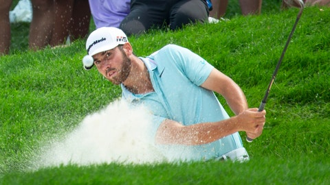 <p>               Matthew Wolff hits from a bunker on the 12th hole during the final round of the 3M Open golf tournament Sunday, July 7, 2019, in Blaine, Minn. (AP Photo/Andy Clayton- King)             </p>