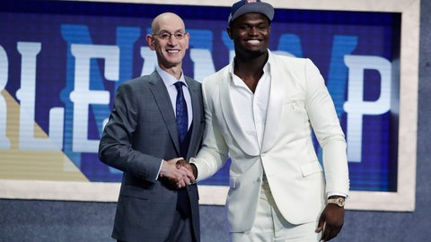 <p>               FILE - In this June 20, 2019, file photo, Duke's Zion Williamson, right, poses with NBA Commissioner Adam Silver after being selected by the New Orleans Pelicans as the first pick during the NBA basketball draft, in New York. Picked No. 1 in the NBA draft. Signed his first pro contract that could be worth as much as $45 million over the next four years. Went to summer league and got hurt after nine minutes. Landed a massive endorsement deal with Jordan Brand. And now, a video game deal. Williamson has signed with 2K, he and the video-game giant announced Tuesday, July 30, 2019, and the former Duke standout will make his video-game debut in NBA 2K20 when it launches on Sept. 6.(AP Photo/Julio Cortez, File)             </p>