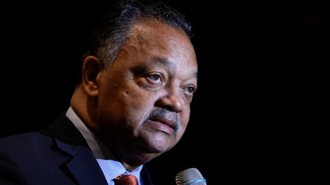 <p>               Rev. Jesse Jackson addresses the Rainbow PUSH Coalition Annual International Convention in Chicago, Tuesday, July 2, 2019. (AP Photo/Amr Alfiky)             </p>