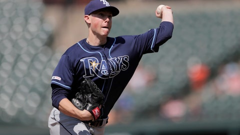 <p>               Tampa Bay Rays relief pitcher Ryan Yarbrough throws to the Baltimore Orioles in the ninth inning of a baseball game, Sunday, July 14, 2019, in Baltimore. (AP Photo/Julio Cortez)             </p>