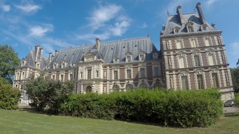 <p>               The Chateau de Villersexel, west of the town of Belfort in eastern France that was visited by the Tour de France this week, Friday, July 12, 2019. (AP Photo/Samuel Petrequin)             </p>