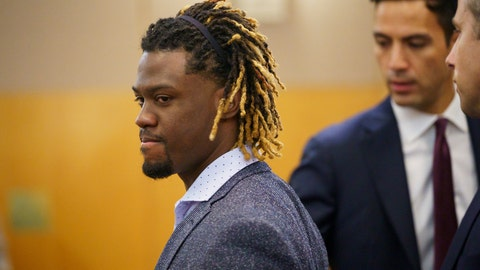 <p>               Philadelphia Phillies baseball player Odubel Herrera arrives at court for a hearing on a domestic violence case in Atlantic City, N.J., Wednesday, July 3, 2019. (Jessica Griffin/The Philadelphia Inquirer via AP, Pool)             </p>