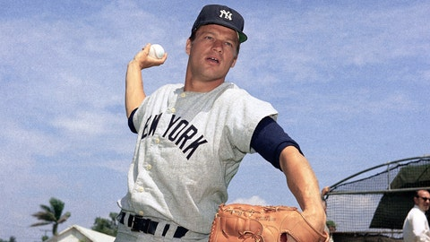 """<p>               FILE - This 1967 file photo shows New York Yankees pitcher Jim Bouton. Jim Bouton, the New York Yankees pitcher who shocked the conservative baseball world with the tell-all book """"Ball Four,"""" has died, Wednesday, July 10, 2019. He was 80. (AP Photo/File)             </p>"""