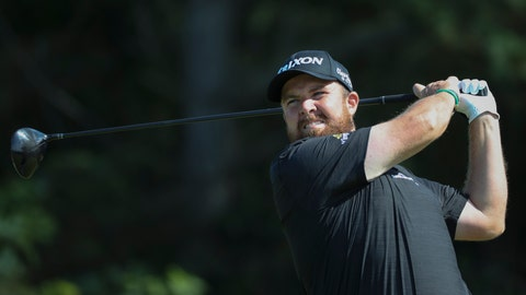 <p>               Ireland's Shane Lowry tees off on the 5th hole during the third round of the British Open Golf Championships at Royal Portrush in Northern Ireland, Saturday, July 20, 2019.(AP Photo/Peter Morrison)             </p>