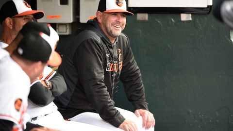 <p>               FILE - In this Tuesday, April 9, 2019 file photo, Baltimore Orioles manager Brandon Hyde sits in the dugout before playing the Oakland Athletics in a baseball game in Baltimore. There might come a time when Brandon Hyde wakes up in the morning, grabs a newspaper and checks out the standings to see where the Baltimore Orioles stand. For now, the rookie manager simply can't bear to look. The rebuilding Orioles limped into the All-Star break with a major league worst 27-62 record. (AP Photo/Gail Burton, File)             </p>