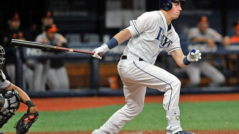 <p>               Tampa Bay Rays' Brendan McKay grounds out to second base during the fourth inning of a baseball game against the Baltimore Orioles Monday, July 1, 2019, in St. Petersburg, Fla. (AP Photo/Steve Nesius)             </p>