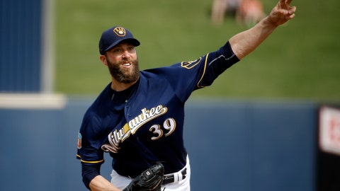 <p>               FILE- In this March 7, 2016, file photo, Milwaukee Brewers' Chris Capuano throws during the third inning of a spring training baseball game against the San Diego Padres in Phoenix. Retired pitcher Capuano has been hired as director of operations of the Major League Baseball Players Association after receiving a master's degree in business administration degree from the Massachusetts Institute of Technology. (AP Photo/Morry Gash, File)             </p>