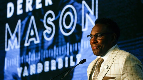 <p>               Vanderbilt head coach Derek Mason speaks to reporters during the NCAA college football Southeastern Conference Media Days, Thursday, July 18, 2019, in Hoover, Ala. (AP Photo/Butch Dill)             </p>