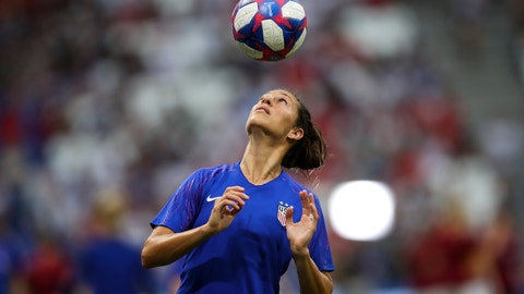 <p>               United States' Carli Lloyd warms up before the Women's World Cup semifinal soccer match between England and the United States, at the Stade de Lyon outside Lyon, France, Tuesday, July 2, 2019. (AP Photo/Francisco Seco)             </p>
