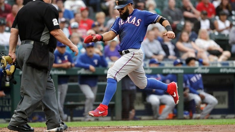 <p>               Texas Rangers' Rougned Odor scores against the Seattle Mariners in the second inning of a baseball game Tuesday, July 23, 2019, in Seattle. (AP Photo/Elaine Thompson)             </p>