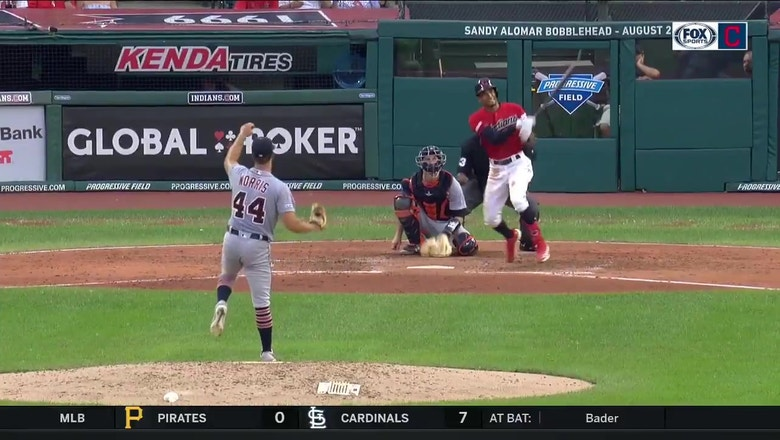 WATCH: Oscar Mercado blasts two home runs including the go-ahead HR in Indians win