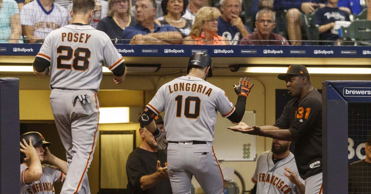 Giants clobber five homers to beat Brewers 10-7 in 10 innings   FOX Sports