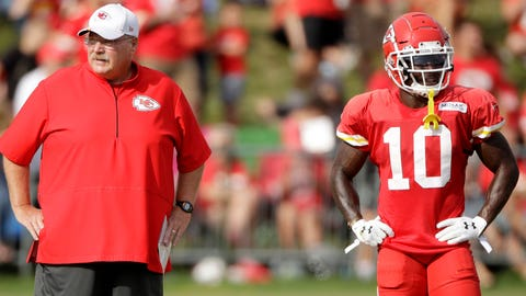 Coach Andy Reid and WR Tyreek Hill