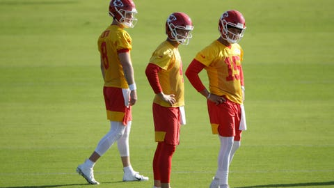 QBs Chase Litton, Chad Henne and Patrick Mahomes