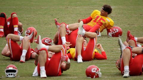 QB Patrick Mahomes and the Chiefs stretch