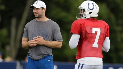QBs Andrew Luck and Jacoby Brissett