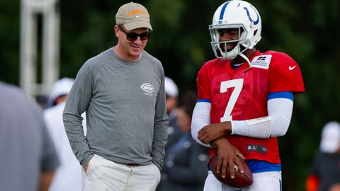 Peyton Manning and QB Jacoby Brissett