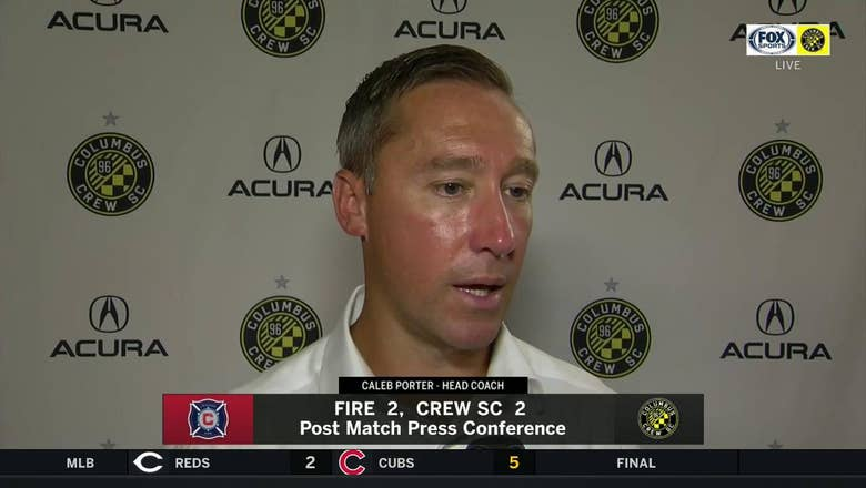 Caleb Porter proud of Crew's resilience in Chicago: 'We kept fighting. We kept swinging'