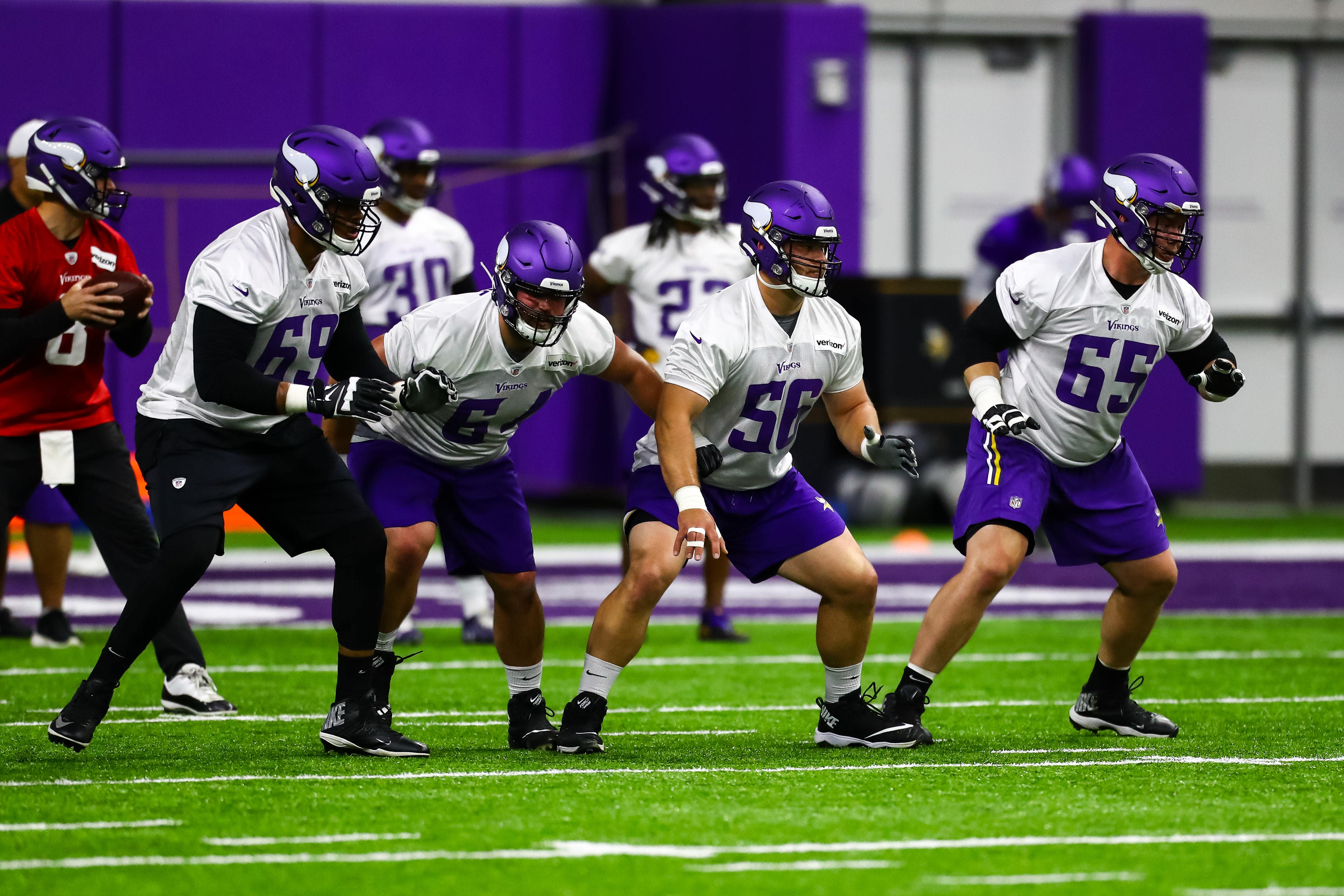 newest 59eb7 60a4c Rookie Bradbury is central figure to Vikings' overhauled ...