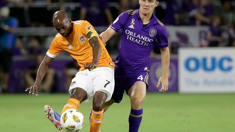 <p>               FILE - In this  Saturday, Sept. 22, 201 file photo, Houston Dynamo's DaMarcus Beasley (7) moves the ball past Orlando City's Will Johnson (4) during the first half of an MLS soccer match in Orlando, Fla. DaMarcus Beasley is heading into the final stretch of a decorated playing career. The captain of the Houston Dynamo plans to retire at the end of the season. He has no interest in coaching, but he wants to try the management side of the sport he has played for decades. And he thinks he has something to offer, too. (AP Photo/John Raoux, File)             </p>