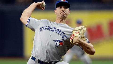 <p>               Toronto Blue Jays' Jacob Waguespack pitches to the Tampa Bay Rays during the first inning of a baseball game Monday, Aug. 5, 2019, in St. Petersburg, Fla. (AP Photo/Chris O'Meara)             </p>