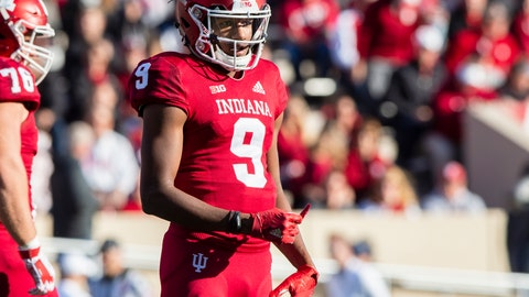 <p>               FILE - In this Saturday, Oct. 20, 2018, file photo, Indiana quarterback Michael Penix Jr. (9) looks to the sideline during the first half of an NCAA college football game in Bloomington, Ind. The wait is almost over for Indiana quarterback Michael Penix Jr. A highly-touted high school recruit who lost last summer's battle to become Indiana's starting quarterback, who redshirted after tearing the anterior cruciate ligament in his right knee last October, who only did limited work during the spring as he recovered will make his first college start Saturday against Ball State. (AP Photo/Doug McSchooler, File)             </p>