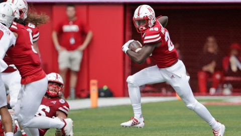 <p>               Nebraska running back Maurice Washington (28) carries the ball during the second half of an NCAA college football game against South Alabama in Lincoln, Neb., Saturday, Aug. 31, 2019. Washington, who faces pornography charges in California stemming from an incident in high school, entered the No. 24 Cornhuskers' game against South Alabama in the third quarter. Nebraska won 35-21. (AP Photo/Nati Harnik)             </p>