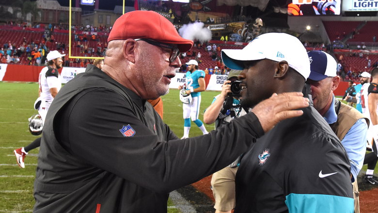 Bruce Arians gets 1st win with Bucs against surprise starter Josh Rosen, Dolphins