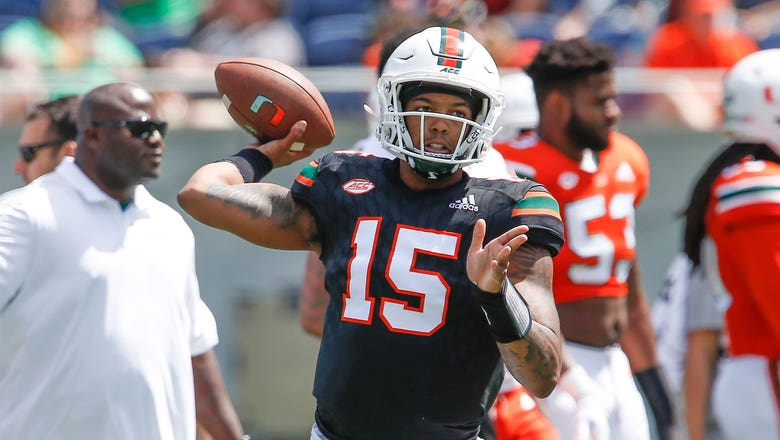Miami's newly crowned starting QB Jarren William preps to open against No. 8 Florida