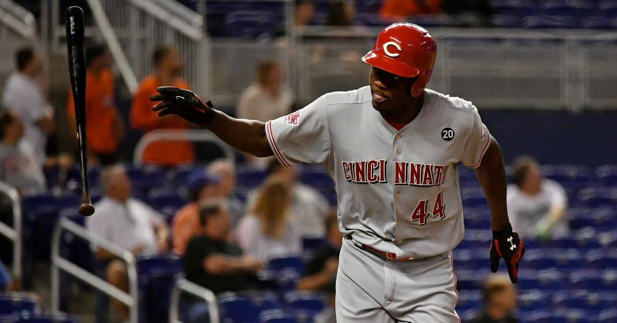 Aquino's 13th HR in month ties rookie mark, Reds shutout Marlins 5-0 | FOX Sports