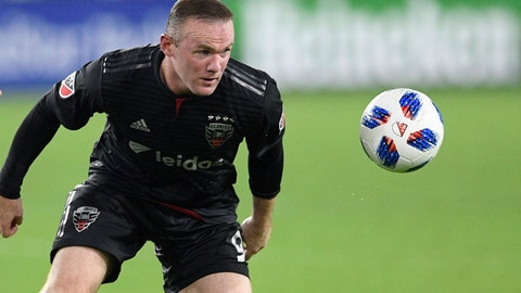 <p>               FILE - In this file photo dated Sunday, Aug. 12, 2018, D.C. United forward Wayne Rooney, in action against Orlando City during the second half of an MLS soccer match, in Washington, USA.  It is announced Tuesday Aug. 6, 2019, that 33-year old former England captain Wayne Rooney will be leaving US Major League Soccer to join second-tier English Championship team Derby County as player-coach from January 2020. (AP Photo/Nick Wass, FILE)             </p>