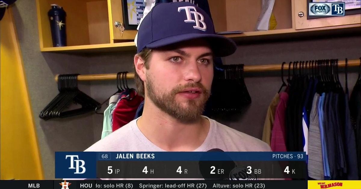Jalen Beeks recaps his start after 7-4 loss to Seattle